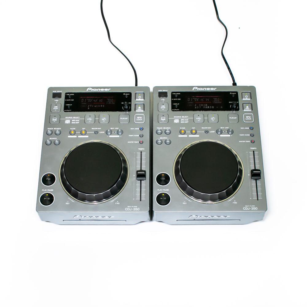 gebraucht kaufen 2er Paket: Pioneer CDJ 350 Silver