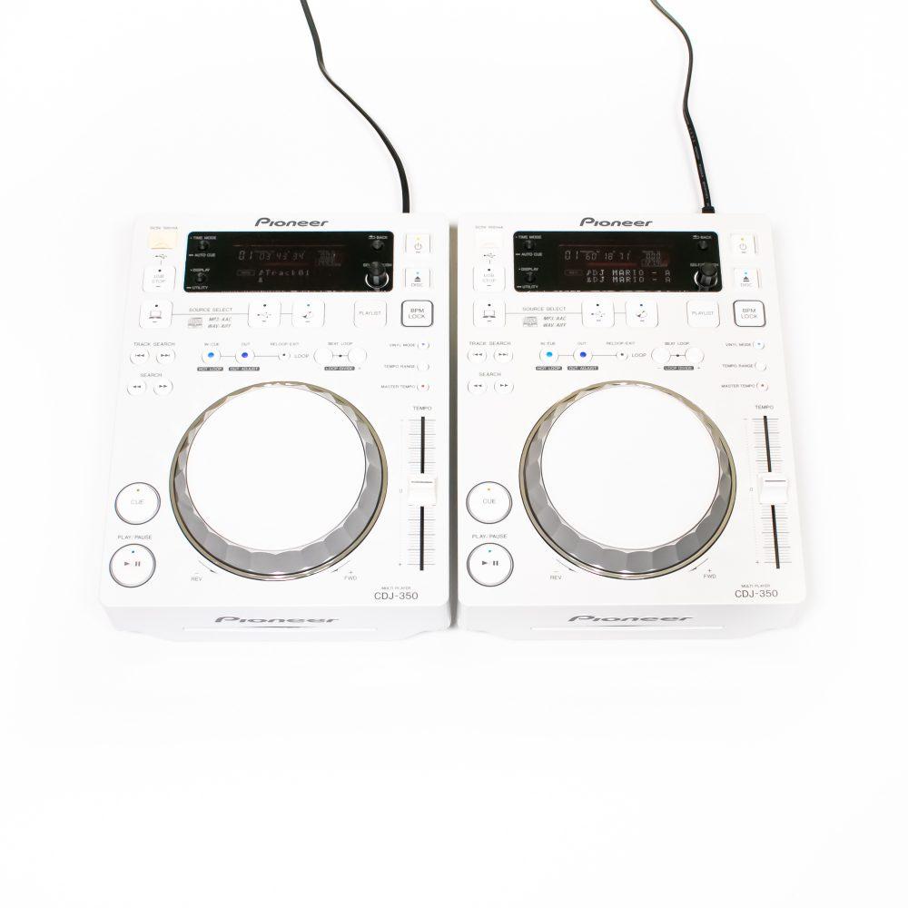 gebraucht kaufen 2er Paket: Pioneer CDJ 350 Limited White