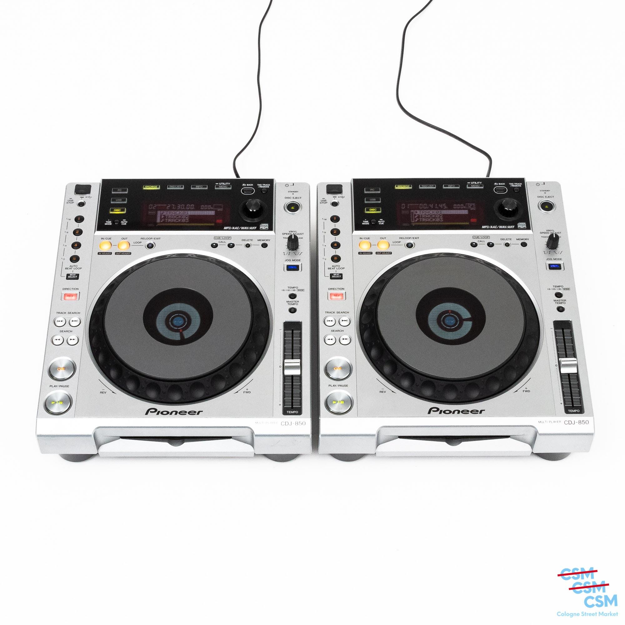 2er Paket Pioneer DJ CDJ 850 Silber gebraucht 1