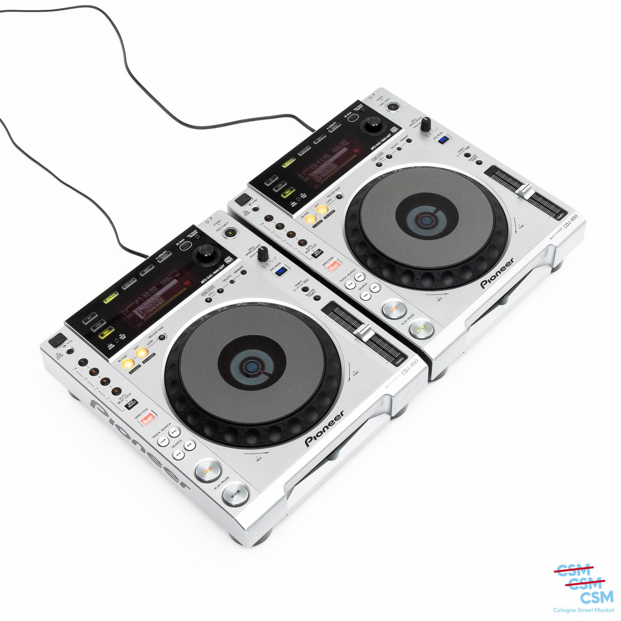 2er Paket Pioneer DJ CDJ 850 Silber gebraucht 2