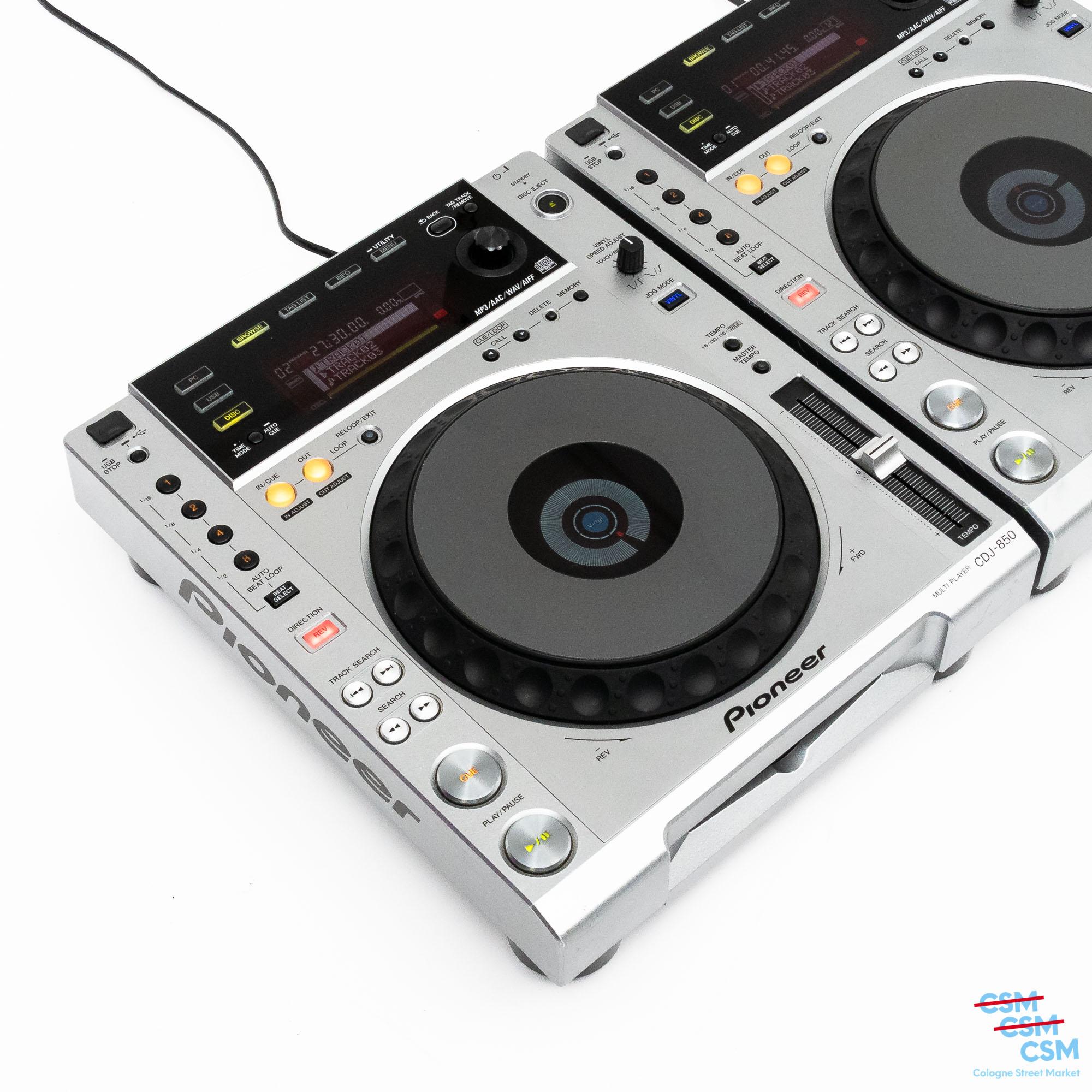 2er Paket Pioneer DJ CDJ 850 Silber gebraucht 4