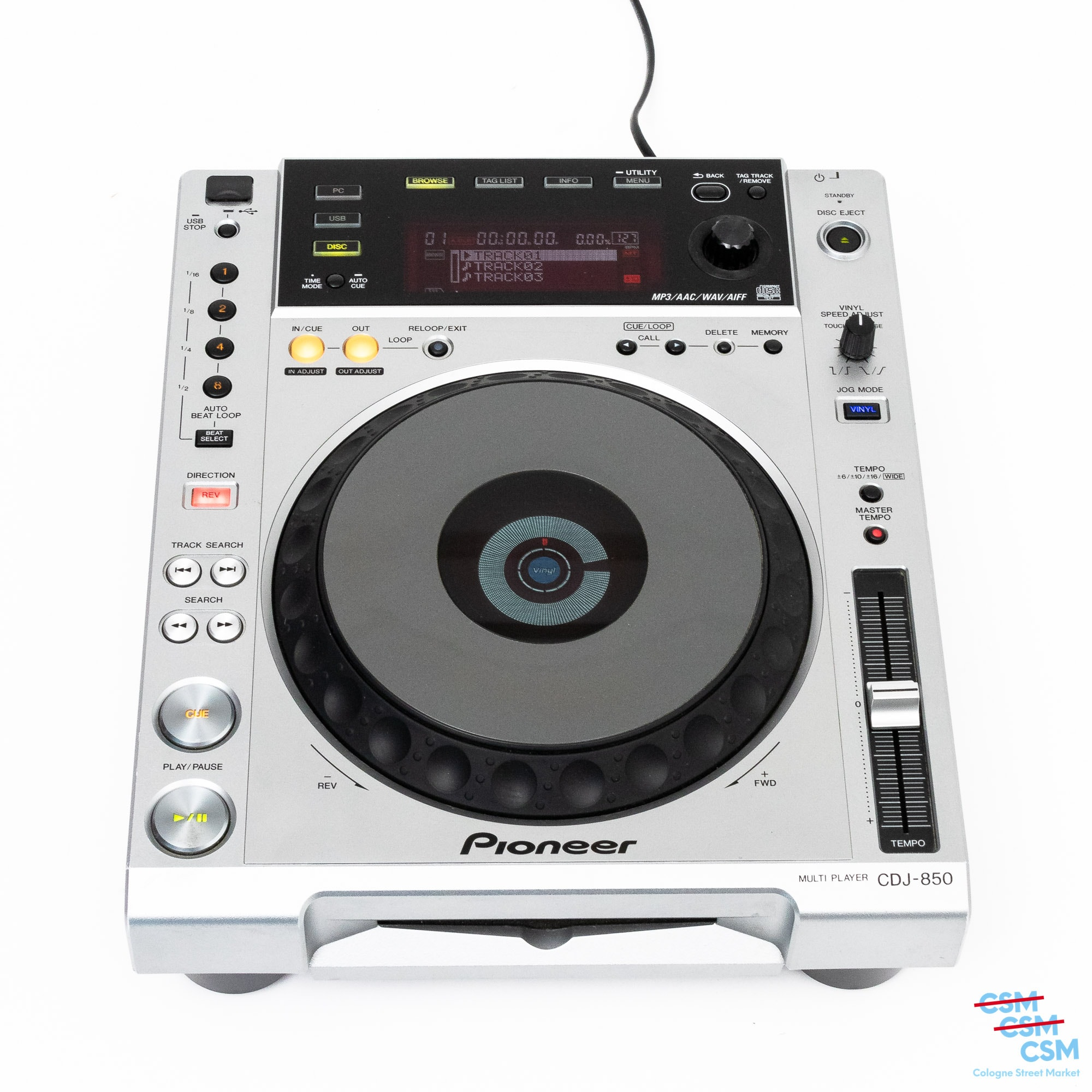 Pioneer DJ CDJ 850 Silber gebraucht 1
