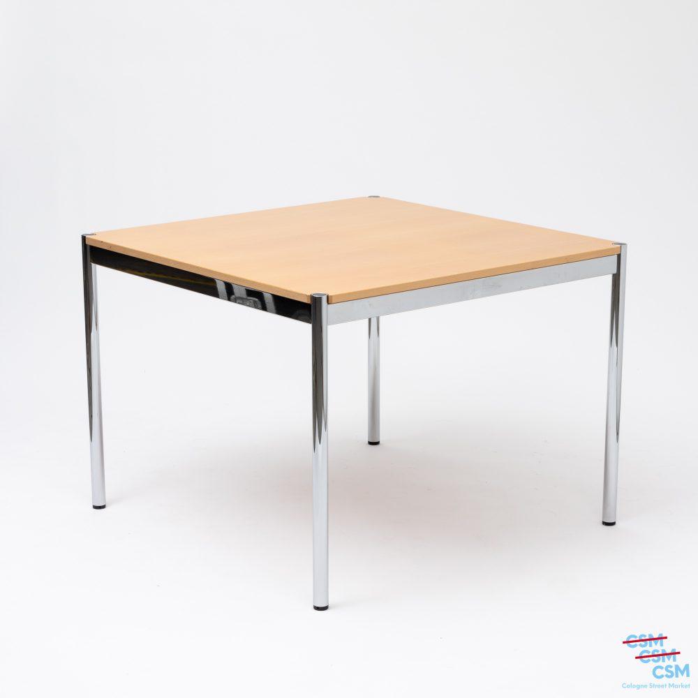USM Haller Tisch quadratisch Buche gebraucht 1
