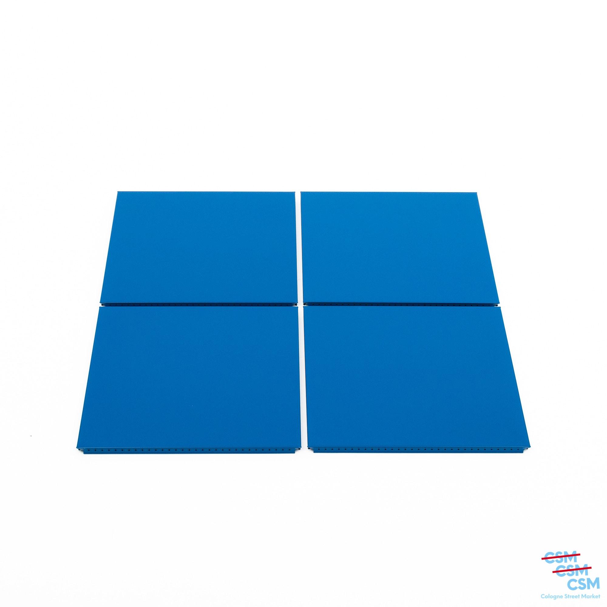 4er Paket USM Haller Tablar 35x35 Enzianblau gebraucht 1