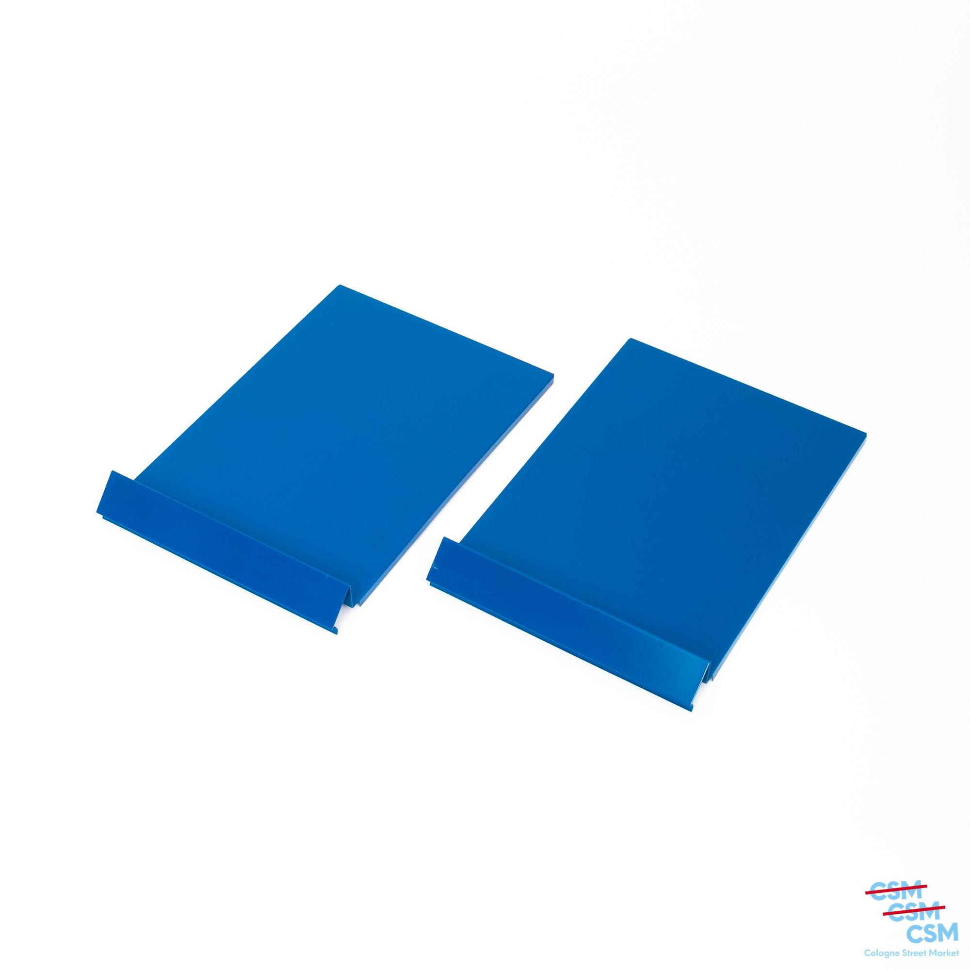 2er Paket USM Haller Prospektklappe Enzianblau 325x49 gebraucht 1