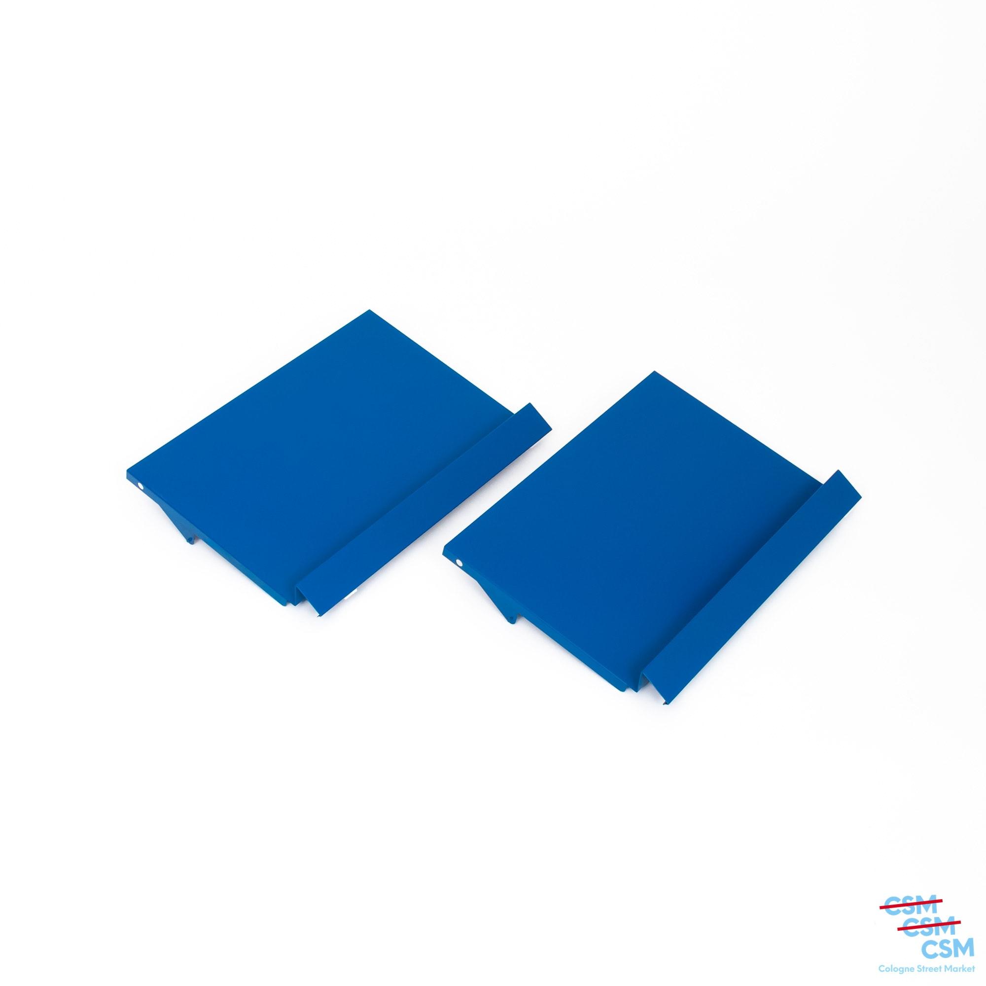 2er Paket USM Haller Prospektklappe Enzianblau 485x35 gebraucht 1
