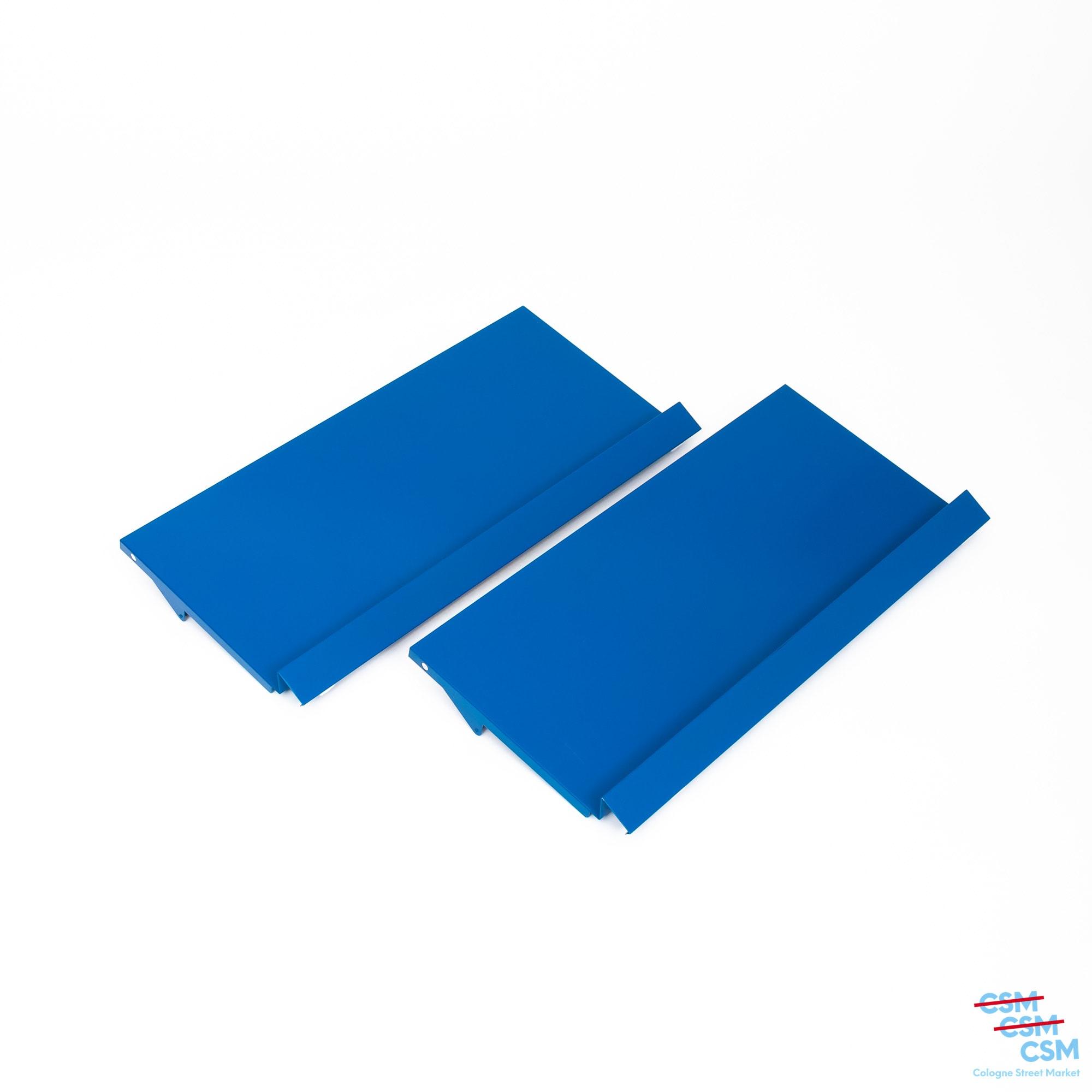 2er Paket USM Haller Prospektklappe Enzianblau 73x35 gebraucht 1