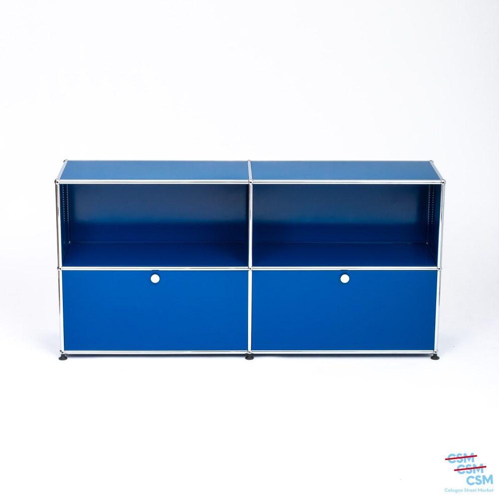 USM-Haller-Sidebard-mit-Klappen-Enzianblau-gebraucht-1