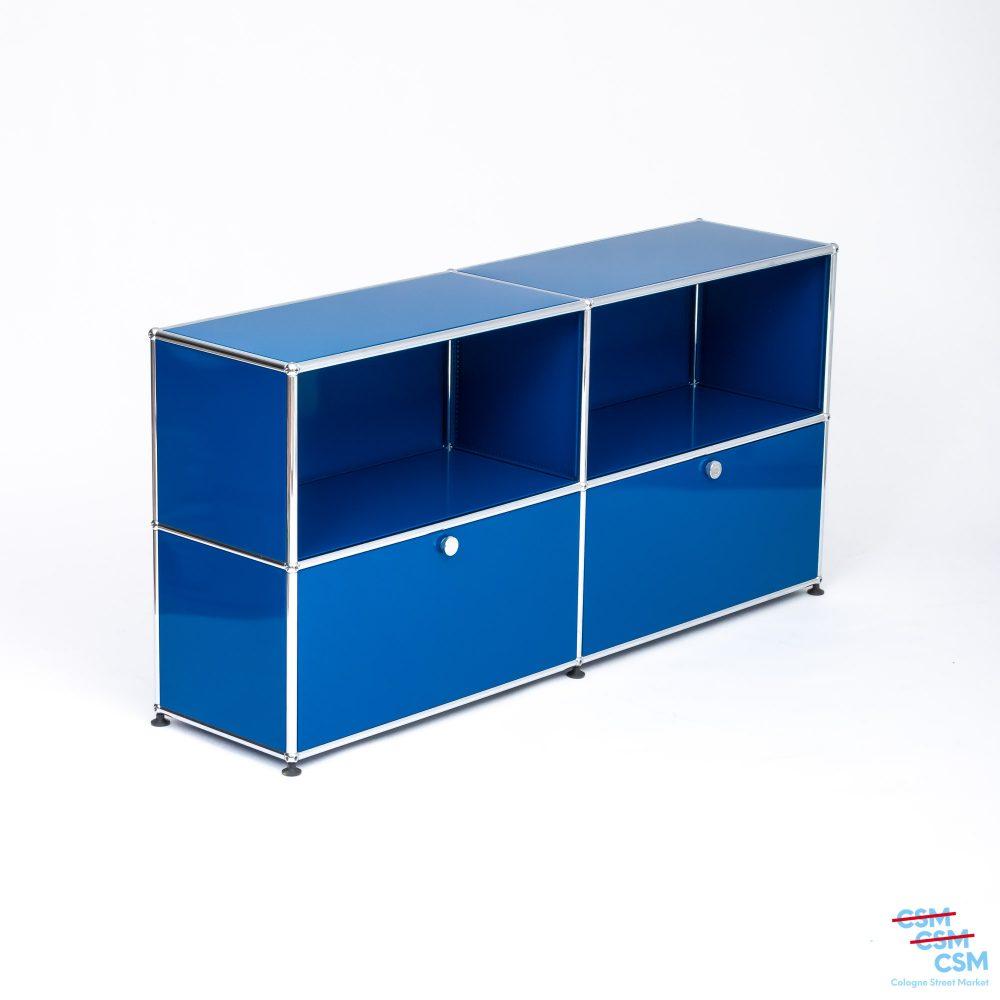 USM-Haller-Sidebard-mit-Klappen-Enzianblau-gebraucht-2