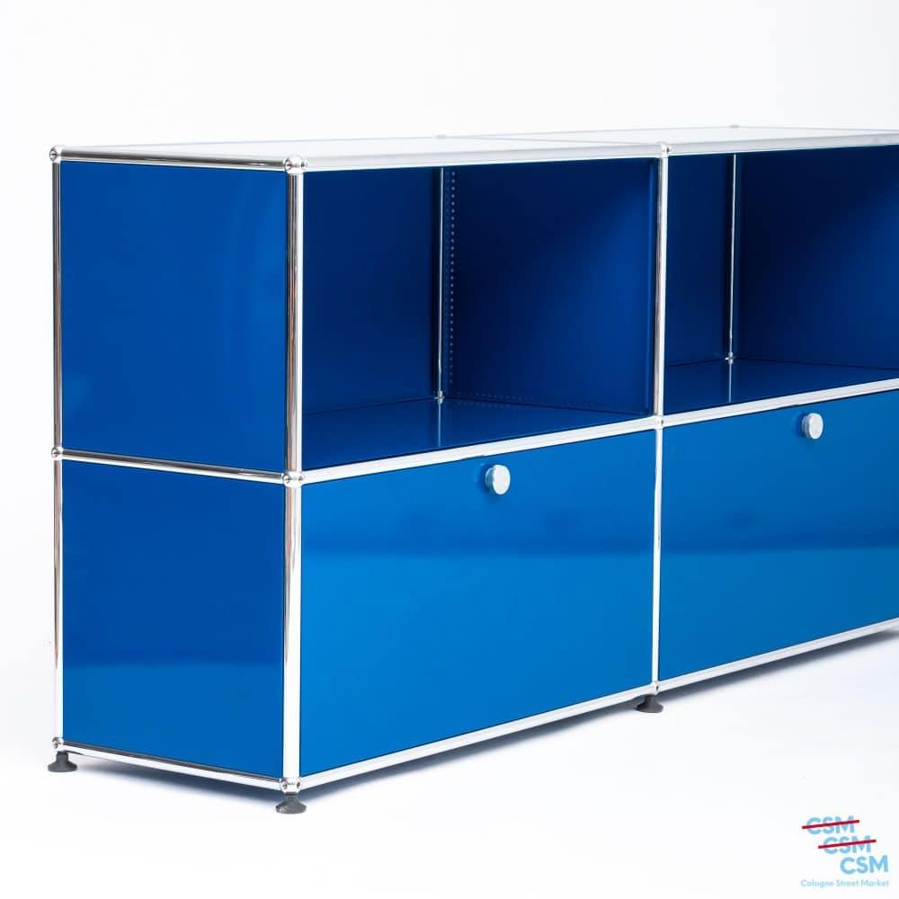 USM-Haller-Sidebard-mit-Klappen-Enzianblau-gebraucht-4